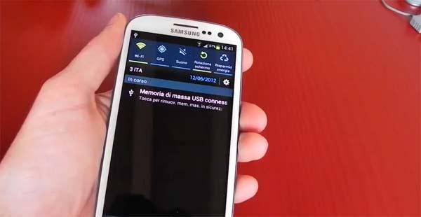 Samsung Galaxy S3 pennetta USB