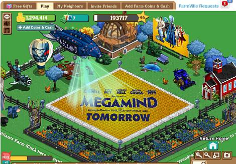 Megamind su Farmville