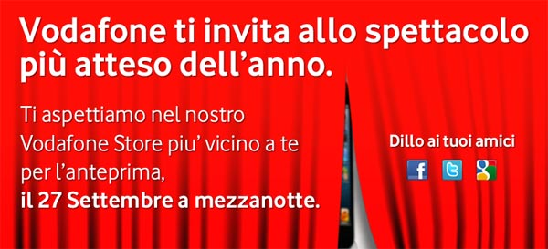 Vodafone Notte Bianca iPhone 5 Apple