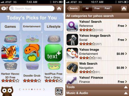 Yahoo Search Apps