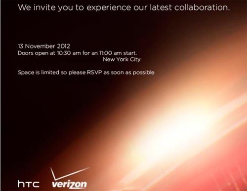 HTC evento 13 novembre 2012