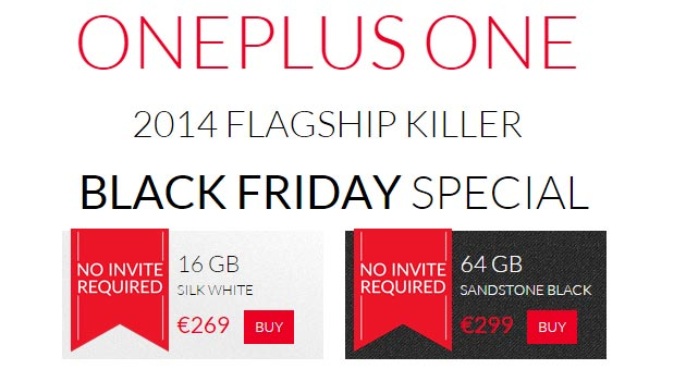 OnePlus One - Black Friday 2014 offerta