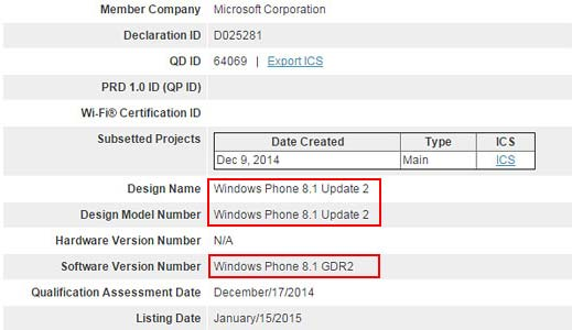 Conferma Windows Phone 8.1 Update 2