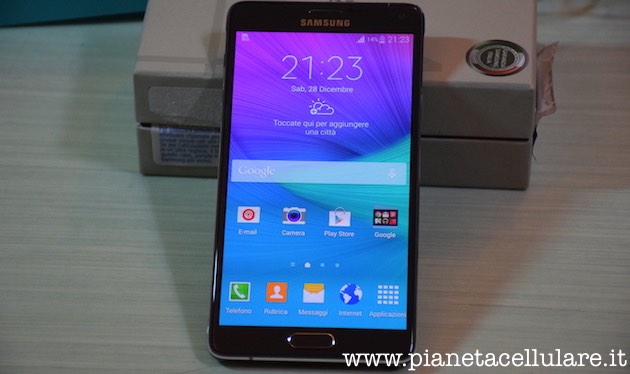 Samsung Galaxy Note 4 Fronte