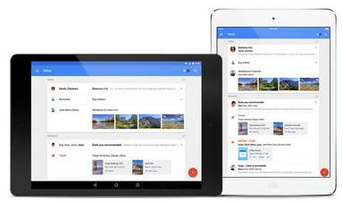 Google Inbox sui tablet Android e iOS
