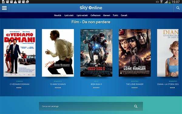 App Sky Online per Android