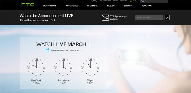 HTC MWC 2015 - Live streaming evento