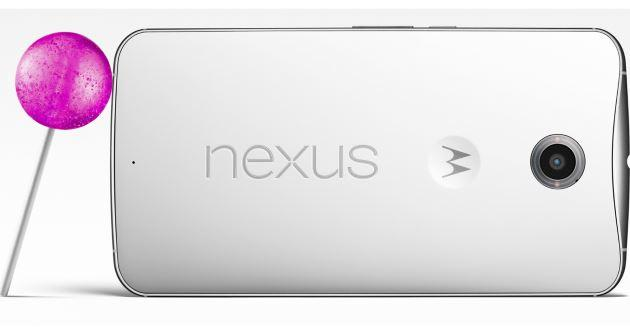 Nexus 6 Lollipop - retro smartphone