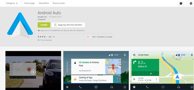 Android Auto app per Android