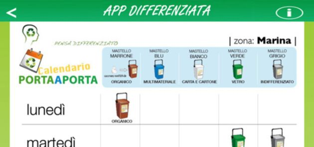 Screen App Differenziata