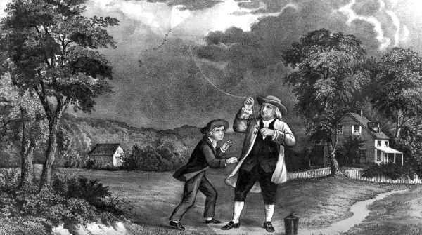Prime prove di elettricita': Benjamin Franklin e l'esperimento dell'aquilone