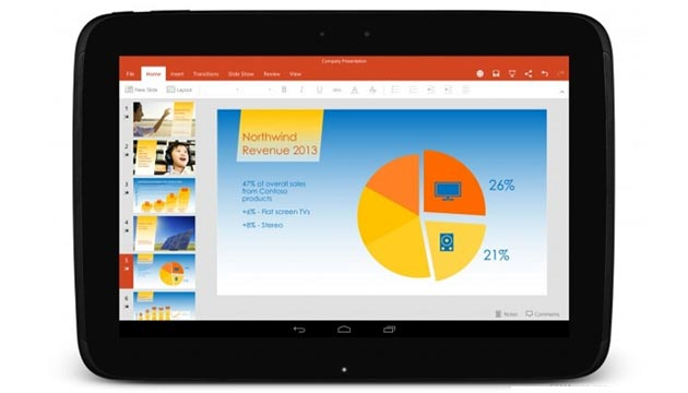 App Microsoft tablet Android