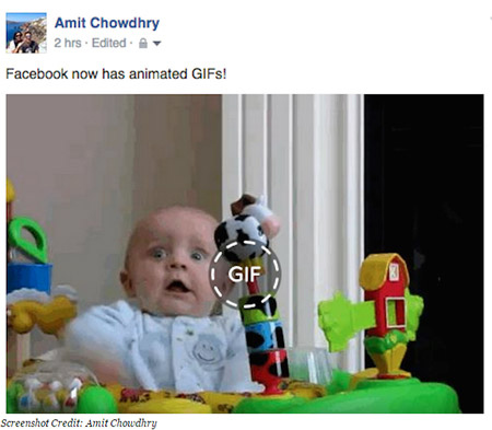 Facebook Animated GIF