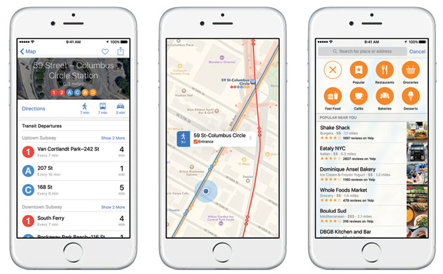 Apple Maps in iOS 9