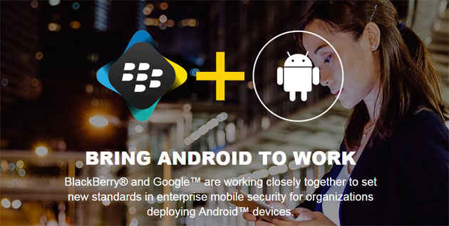 Blackberry BES 12 e Google Android