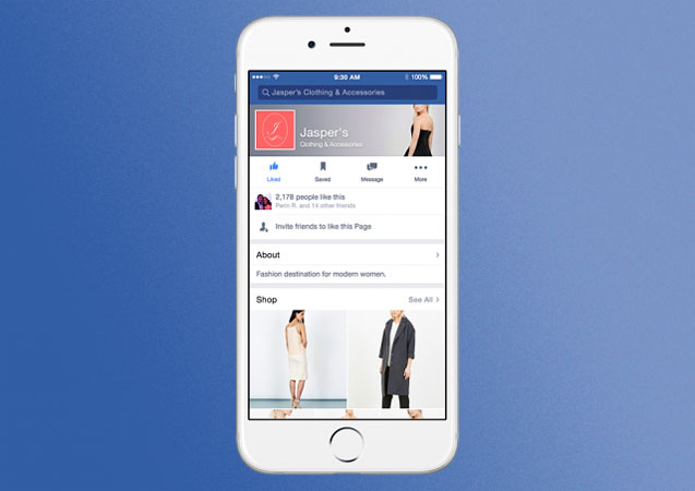 Facebook, Shop app mobile
