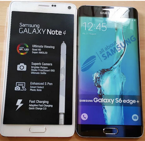 Samsung Galaxy S6 Edge Plus vs Galaxy Note 4