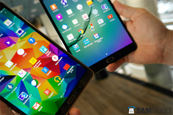 Samsung Galaxt Tab S vS Tab S2