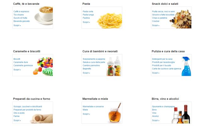 Categorie Alimentari su Amazon