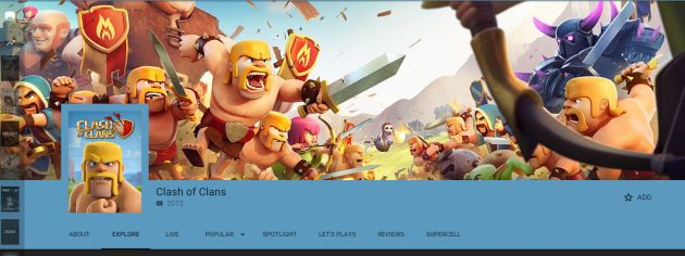 Clash of Clans su Youtube Gaming