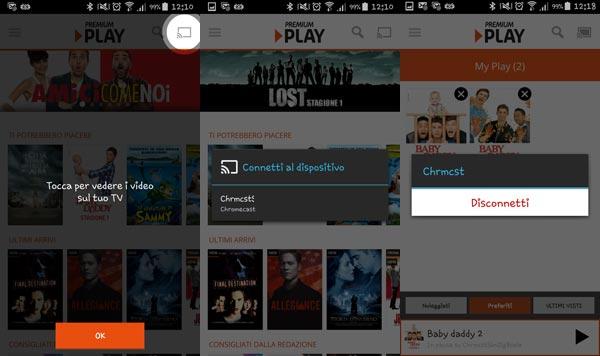 premium play di mediaset su chromecast come funziona e si usa