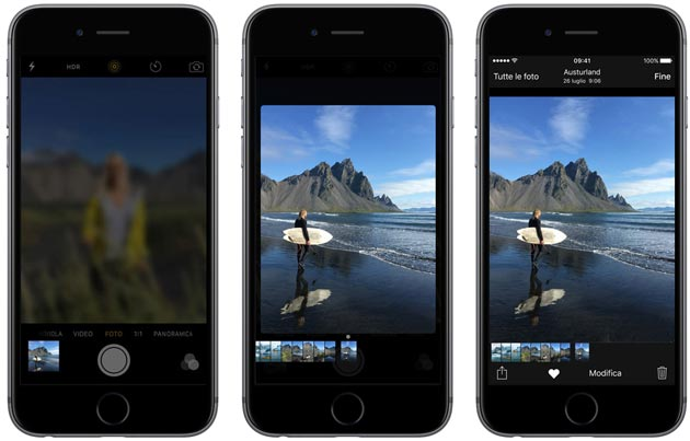 Apple iPhone 6s - 3D Touch con le foto