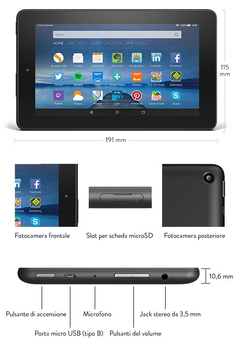 Amazon, nuovo tablet Fire 7