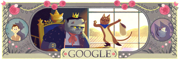 doodle per Charles Perrault (gatto stivali)