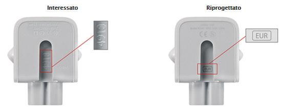 Apple - immagine per confronto adattatore difettoso