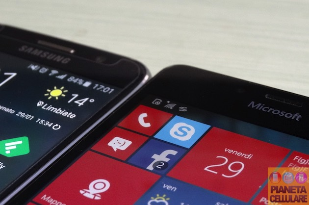 Samsung Galaxy S6 vs Microsoft Lumia 950