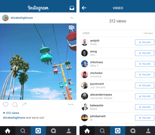 Instagram - nuovo contatore video