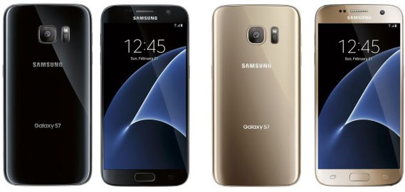 Samsung Galaxy S7 Edge - render colori