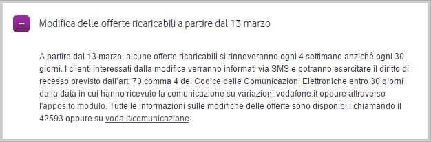 Vodafone passa le offerte mensili a rinnovo ogni 4 - Bolletta telefonica ogni 4 settimane ...