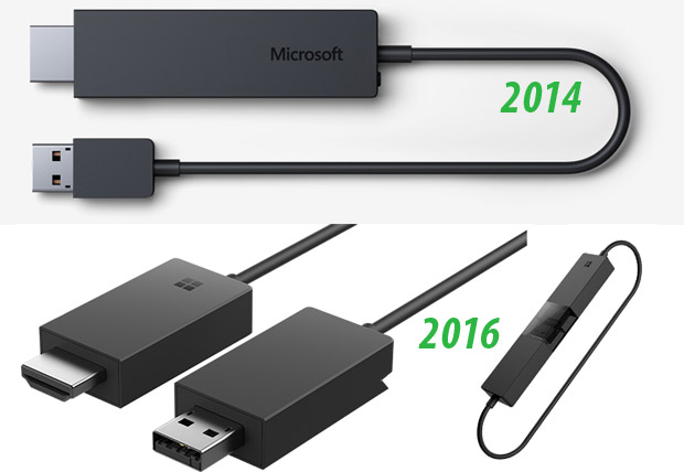 Microsoft Wireless Display Adapter: generazioni a confronto