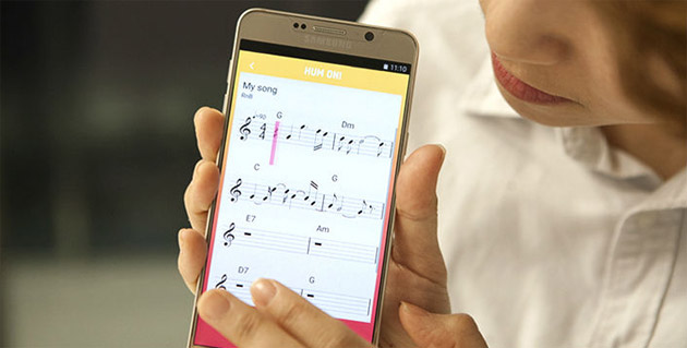 Samsung Hum On - app che trascrive musica
