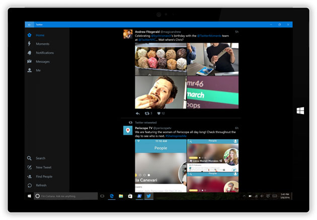 Twitter per Windows 10