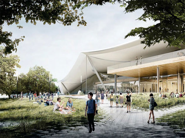 render campus Google di Mountain View