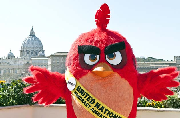 Angry Birds - RED a Roma in Piazza San Pietro