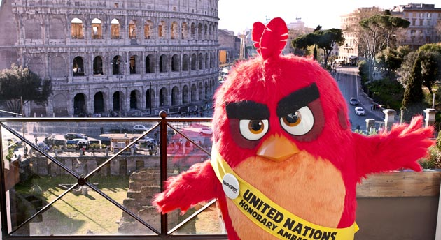 Angry Birds - RED a Roma al Colosseo