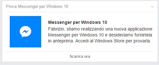 Facebook Messenger per Windows 10