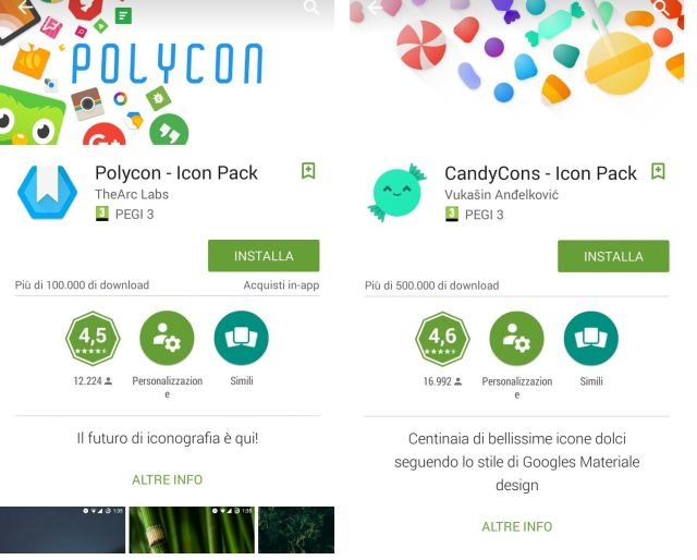 Icon Pack su Android