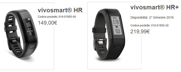 Vivosmart HR+ vs Vivosmart HR