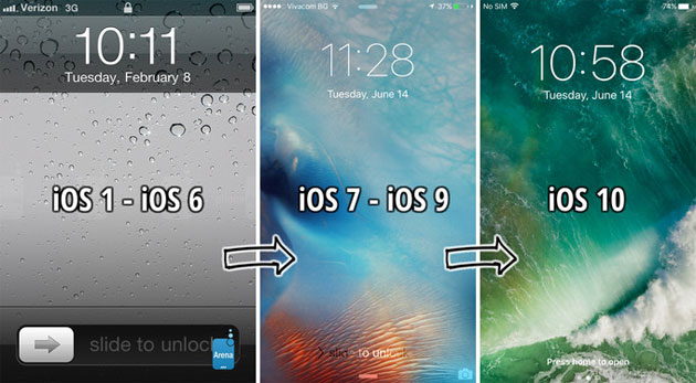 iOS 10 Lockscreen senza Slide-to-Unlock