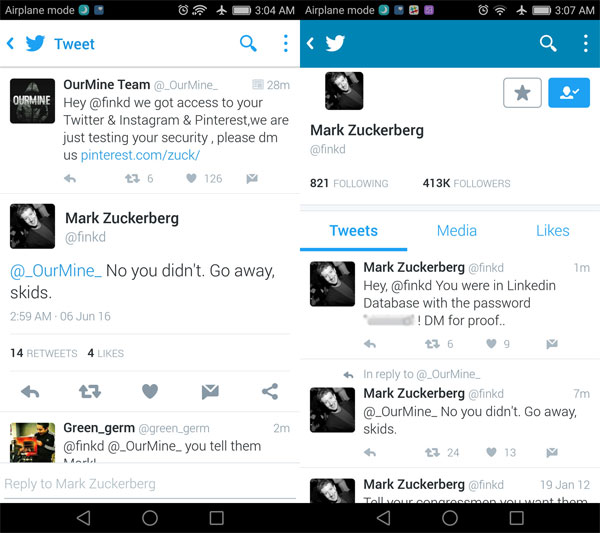 Mark Zuckerberg - Twitter