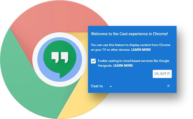 Google Cast integrato in Chrome