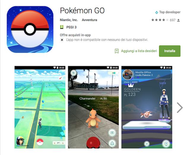 Iniziato il rilascio ufficiale di Pokémon Go! (APK)