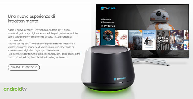 decoder TIMVision con Android TV