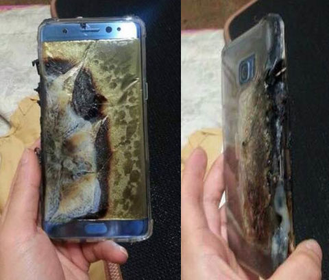 Samsung Galaxy Note 7 esploso