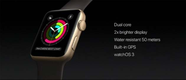Apple Watch Series 2 - specifiche chiave