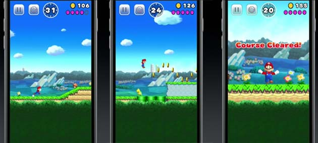 Super Mario su Apple iPhone